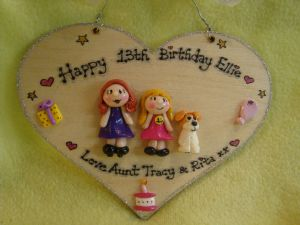 3 character 3d Personalised Birthday Heart shaped wooden Sign Any age 13 16 18 21 30 40 50 60 70 80 90 100